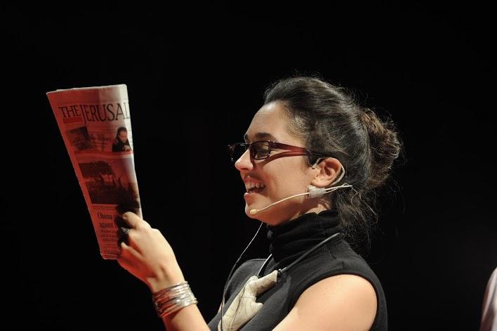 Maya Elhalal Levavi testing OrCam