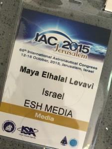 Maya Elhalal Levavi hosting IAC2015 3